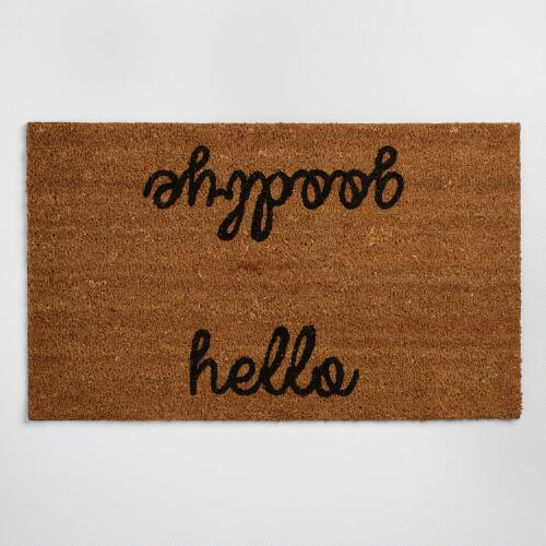 Hello and Goodbye Doormat