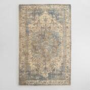 5x8 Blue Gray Print Tufted Nylon Veronica Area Rug