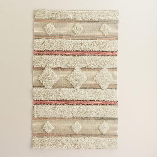 3x5 Blush and Ivory Wedding Blanket Area Rug