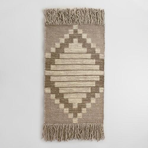 3x5 Diamond Wool and Cotton Amala Area Rug