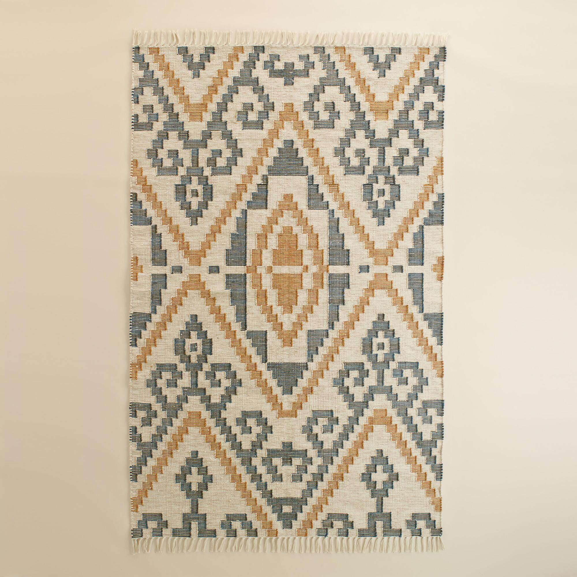 Geo Flatweave Morgan Indoor Outdoor Rug | World Market - photo#19