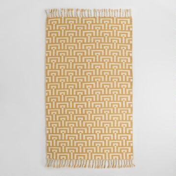Yellow and Ivory Flatweave Flynn Indoor Outdoor Rug