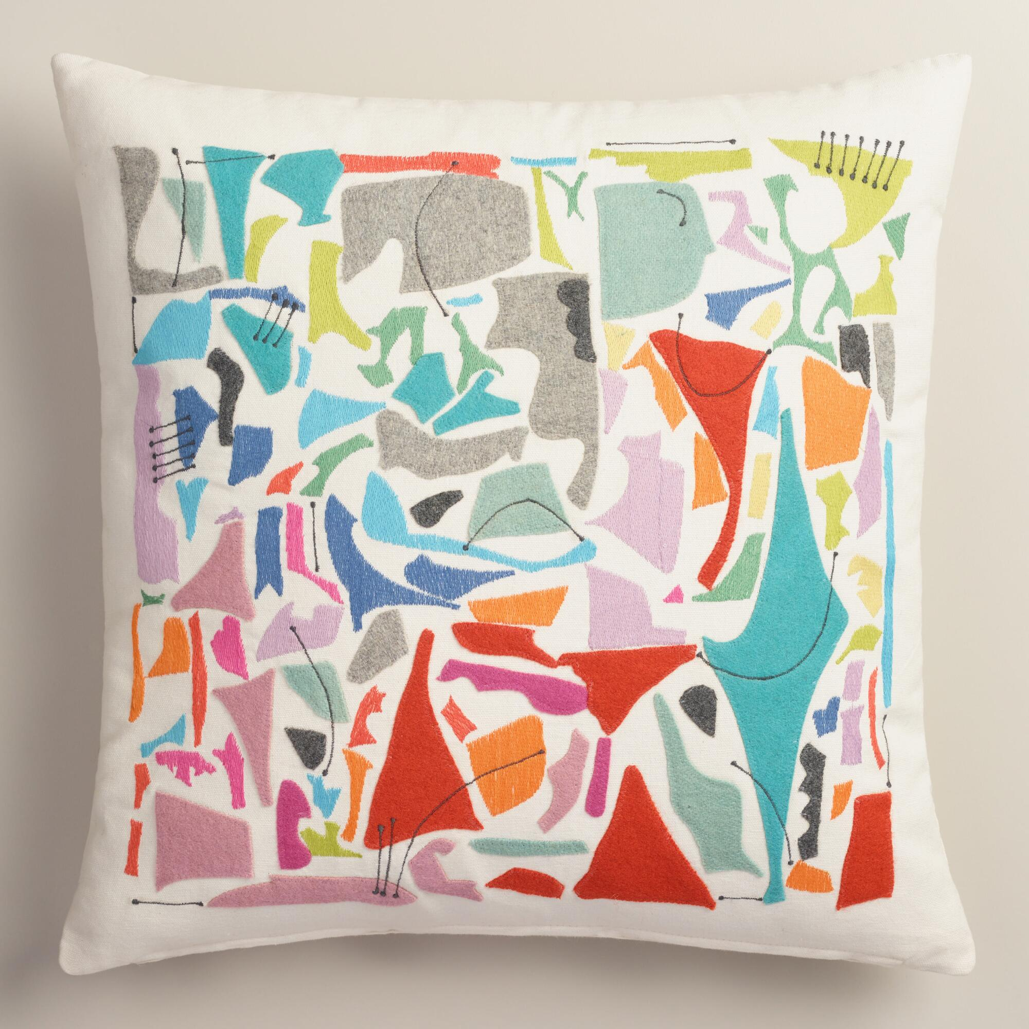 Vintage Style Throw Pillows : Vintage Style Felt Cutout Throw Pillow World Market