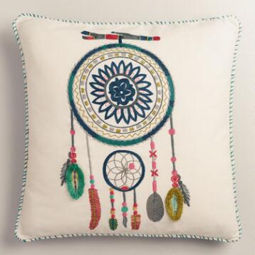 Dreamcatcher Cotton Throw Pillow