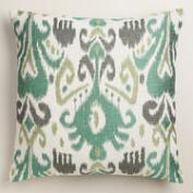 Cool Ikat Jacquard Throw Pillow