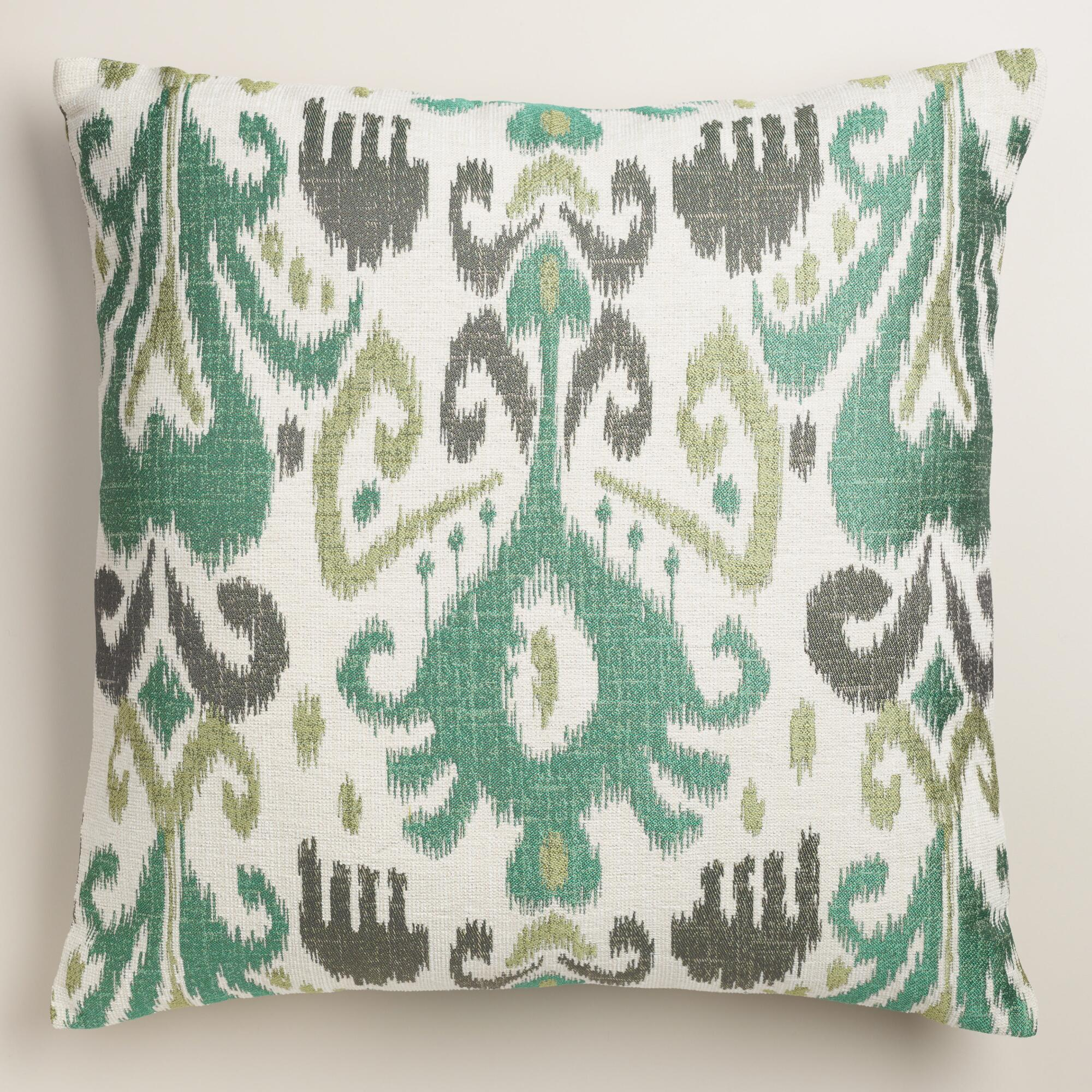 Jacquard Throw Pillows : Cool Ikat Jacquard Throw Pillow World Market