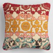 Sari Applique Throw Pillow
