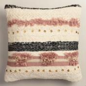 Pink Wedding Blanket Shag Throw Pillow