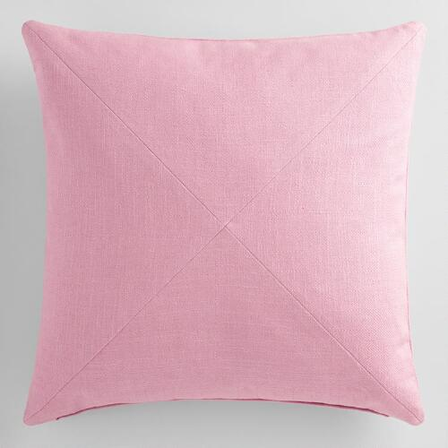 Lilac Mist Herringbone Cotton Throw Pillow