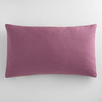 Purple Herringbone Linen Lumbar Pillow