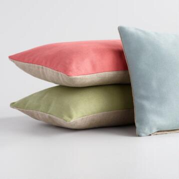 Herringbone Linen Lumbar Pillow Collection