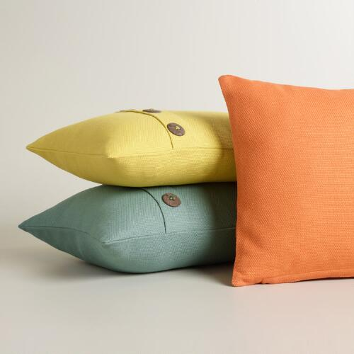 Basket Weave Cotton Lumbar Pillow Collection