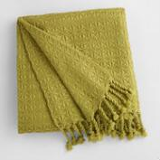 Green Diamond Fringe Throw