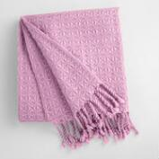 Lilac Diamond Fringe Throw