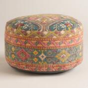 Multicolor Stonewashed Cotton Pouf