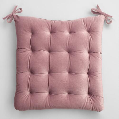 Violet Velvet Chair Cushion
