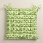 Green Sheila Print Cotton Chair Cushion