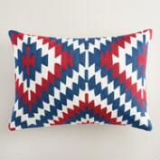 Americana Embroidered Lumbar Pillow