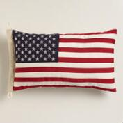 Oversized American Flag Lumbar Pillow