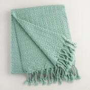 Blue Diamond Fringe Throw