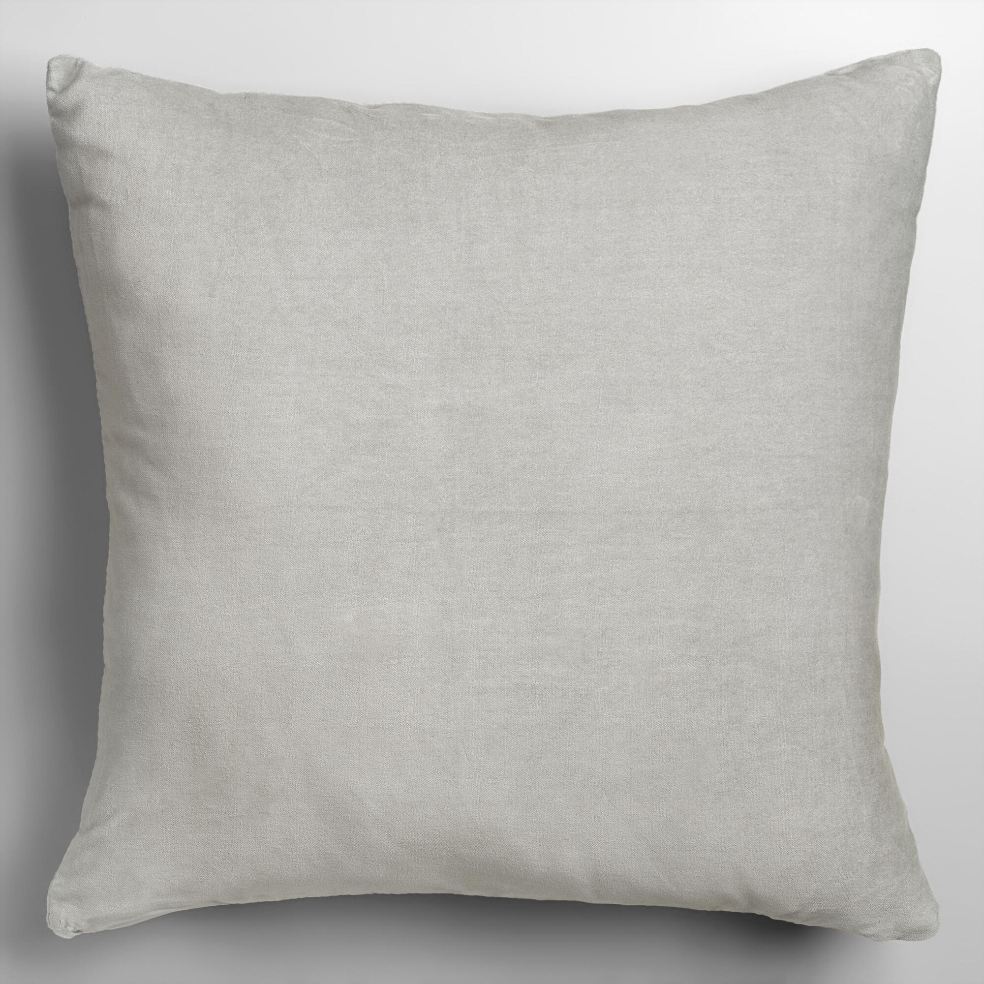 Throw Pillows Velvet : Mirage Gray Velvet Throw Pillow World Market