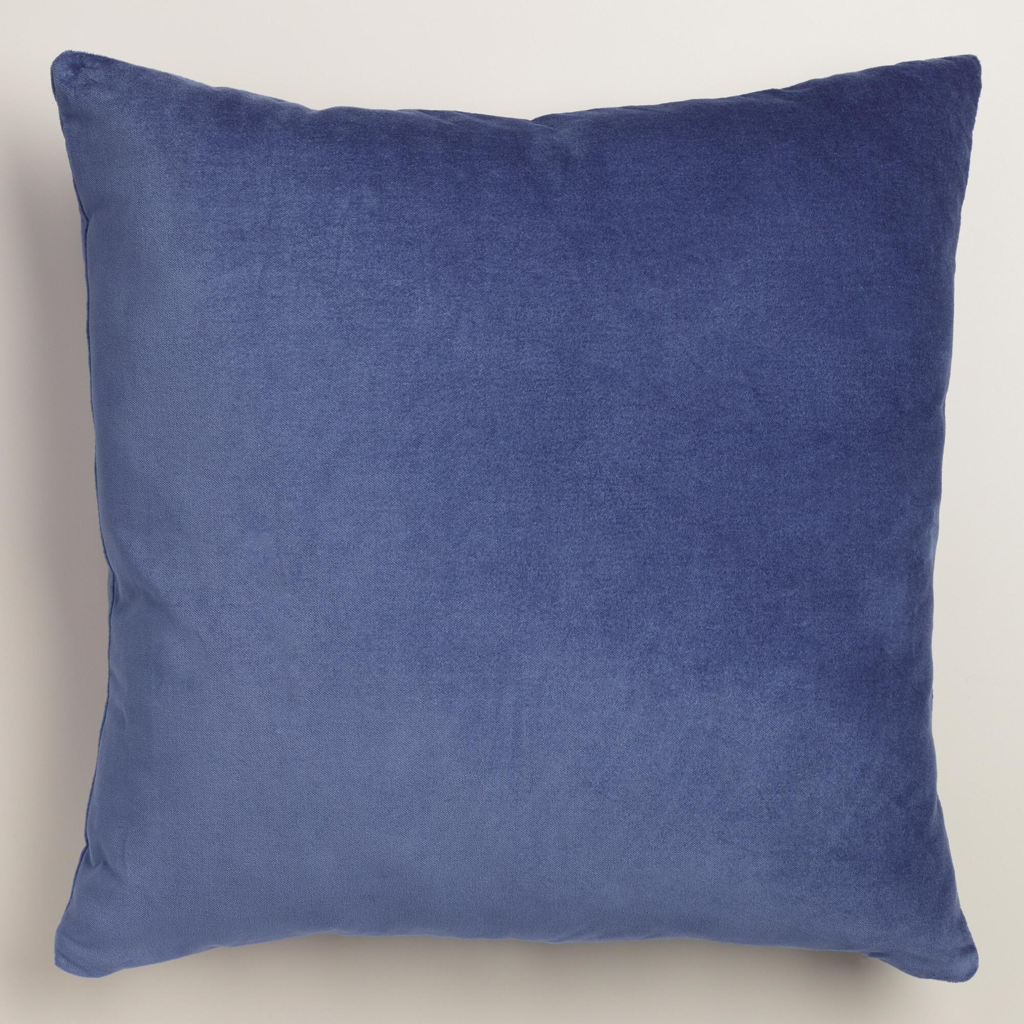 Throw Pillows Velvet : Twilight Blue Velvet Throw Pillow World Market