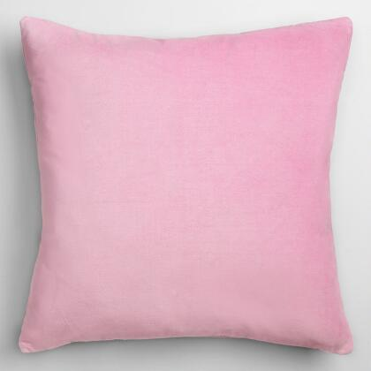Lilac Mist Velvet Throw Pillow