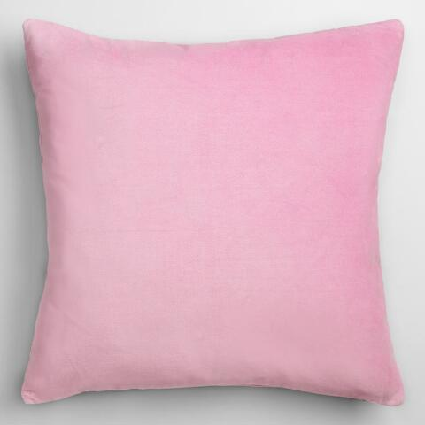Lavender Velvet Throw Pillow : Lilac Mist Velvet Throw Pillow World Market