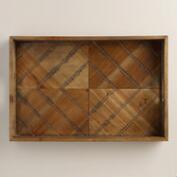 Wood Herringbone Tray