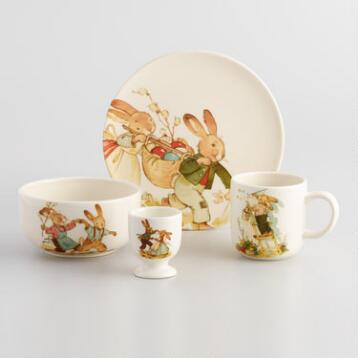 Nestler Vintage Style Bunny Dinnerware Collection