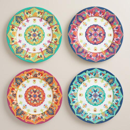 Jessica Porcelain Salad Plates Set of 4
