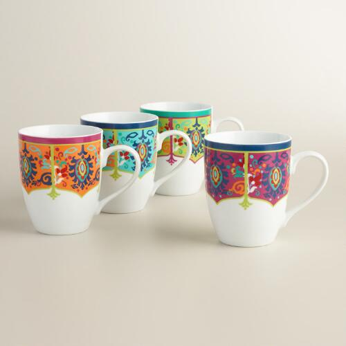 Jessica Porcelain Mugs Set of 4