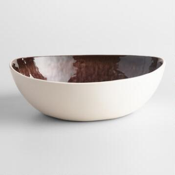 Plum Reactive Glaze Bowls Set of 2
