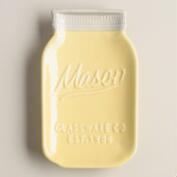 Yellow Ceramic Mason Jar Spoon Rest