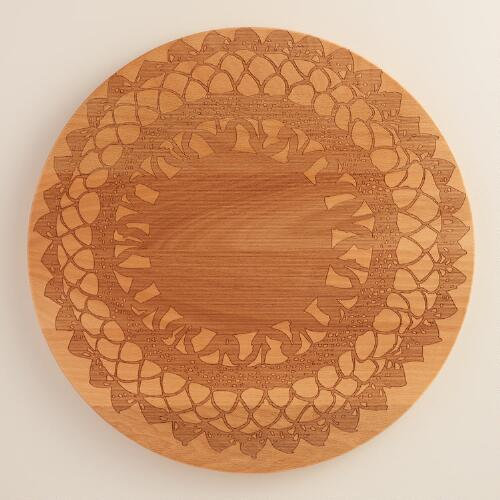 Lace Etched Beechwood Cutting Board