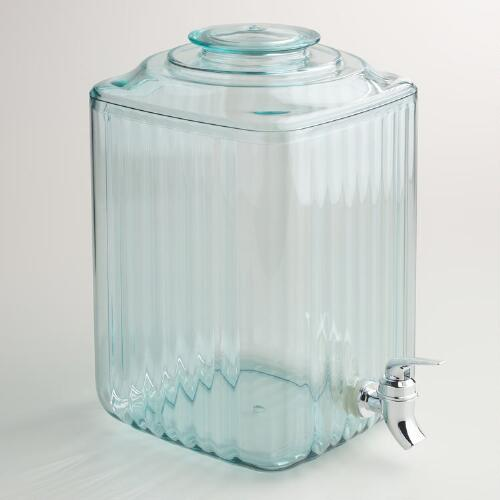 2 Gallon Ribbed Acrylic Drink Dispenser