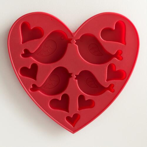 Bird and Heart Silicone Ice Cube Tray