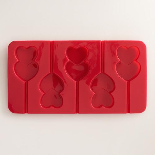 Double Heart Silicone Ice Cube Tray