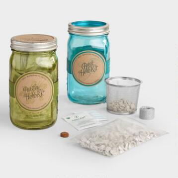 Organic Herb Mason Jar Garden Kits Set of 2