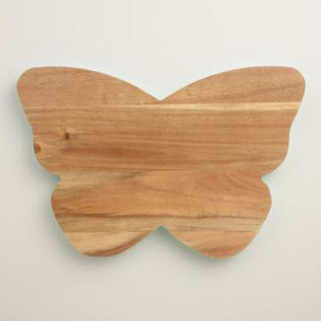 Acacia Wood Butterfly Cutting Board