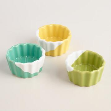 Dipped Ceramic Ramekins Set of 3