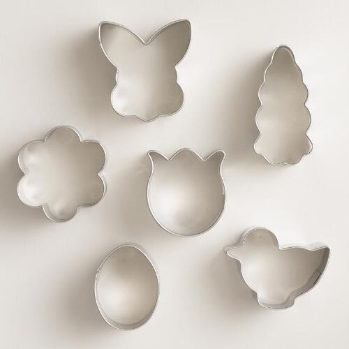 Mini Spring Cookie Cutter Set 6 Piece