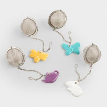 Ceramic Charm Tea Infusers Set of 4
