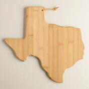 Bamboo Texas Cutting Board