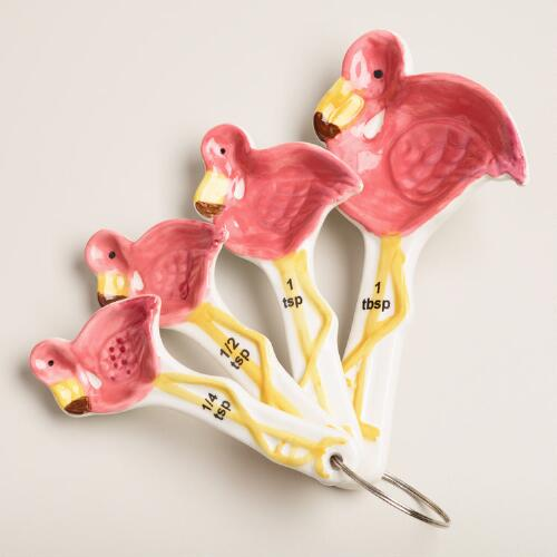 Ceramic Flamingo Measuring Spoons