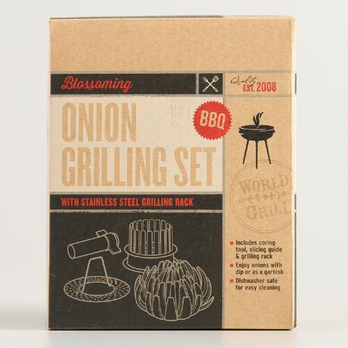 Blossoming Onion Grill Rack 3 Piece Set