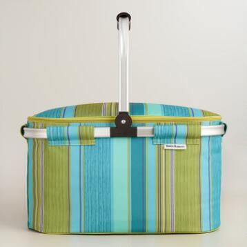 Coastal Modern Insulated Collapsible Tote Bag