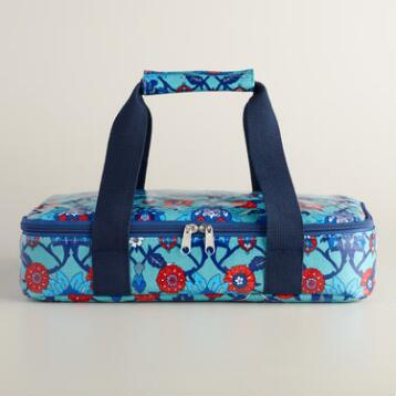 Oilcloth Insulated Casserole Carrier