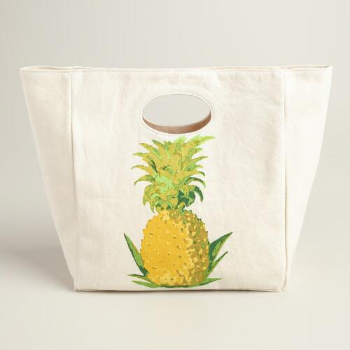 Pineapple Fluf Organic Cotton Lunch Bag