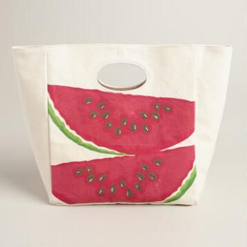 Watermelon Fluf Organic Cotton Lunch Bag